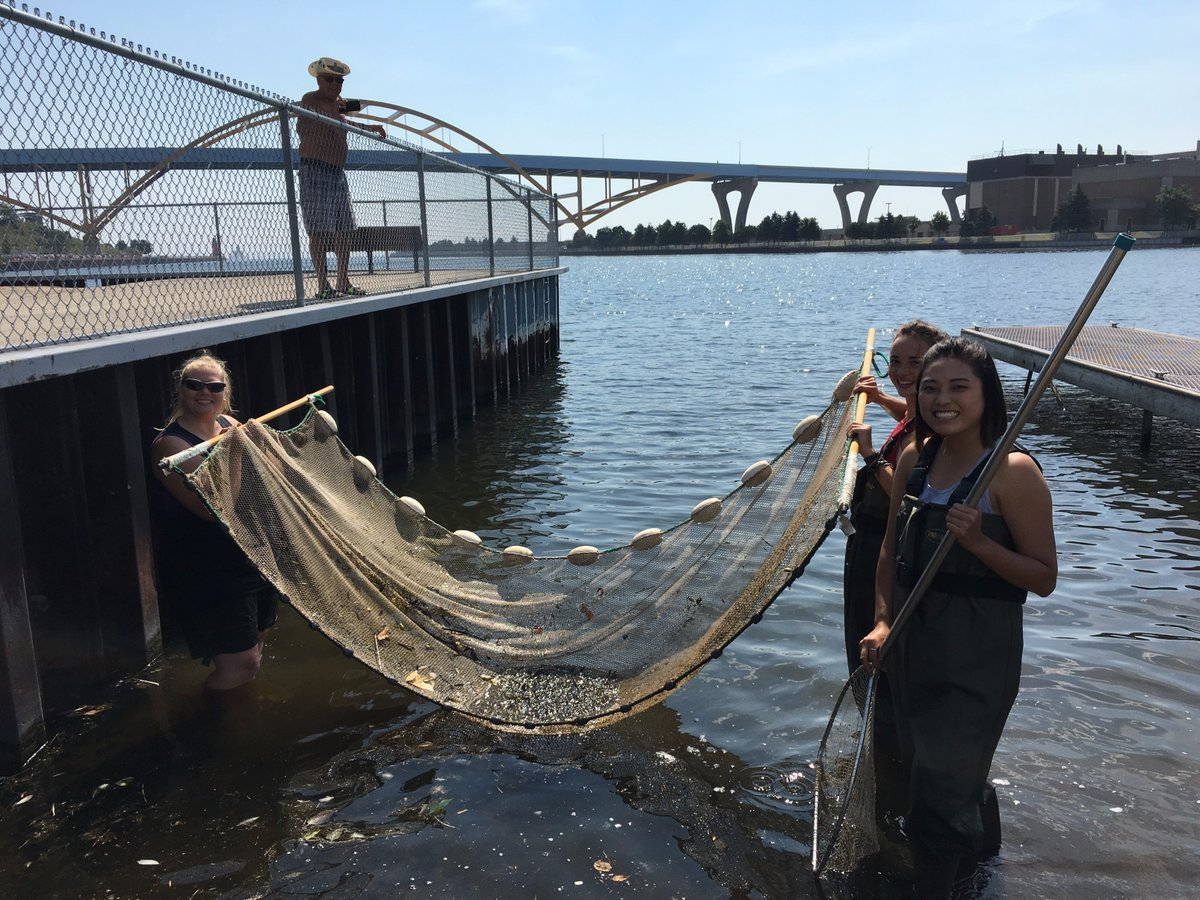 Tim hoellein center for great lakes literacy for Milwaukee river fishing