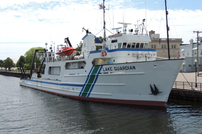 An image of the research vessel Lake Guardian