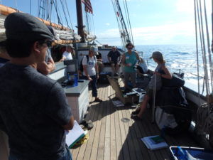 First day of class on the S/V Denis Sullivan!
