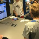 Students present virtual posters and discuss the results of their science projects